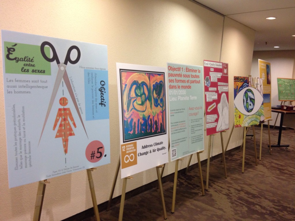 Artist impressions of the Global Goals at Global Affairs Canada